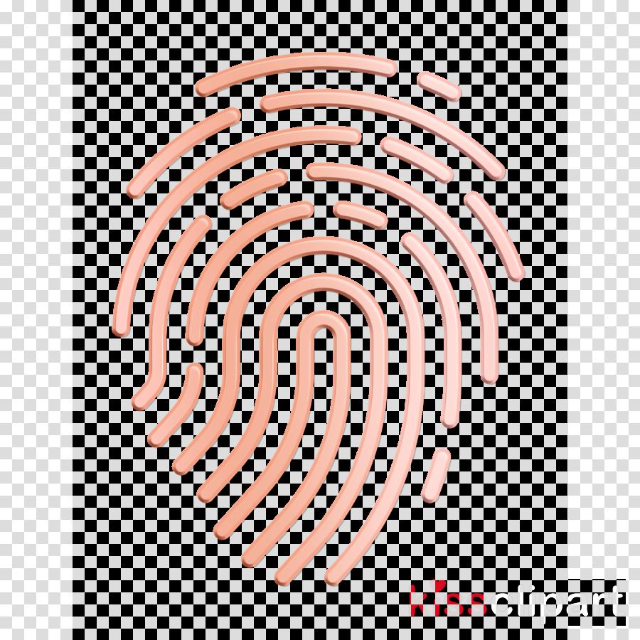 Justice icon Fingerprint icon clipart.