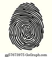 Fingerprint Clip Art.