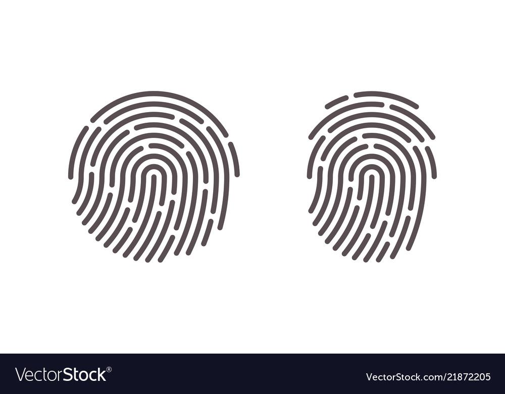 Fingerprint finger print scan logo icons.