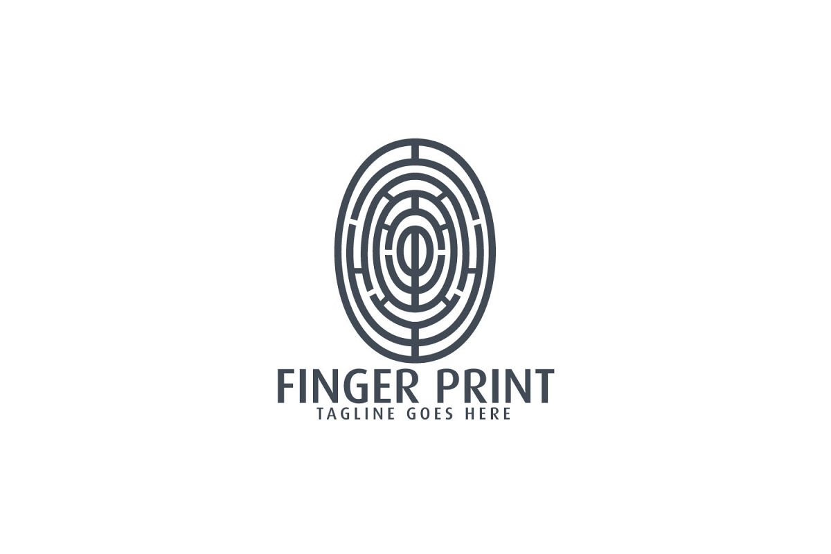 Fingerprint logo design..