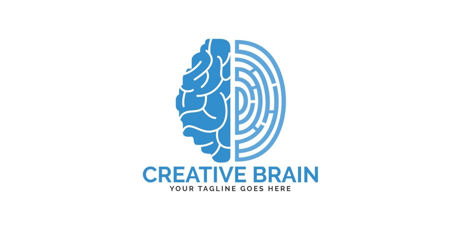 Brain and Fingerprint Logo Design.