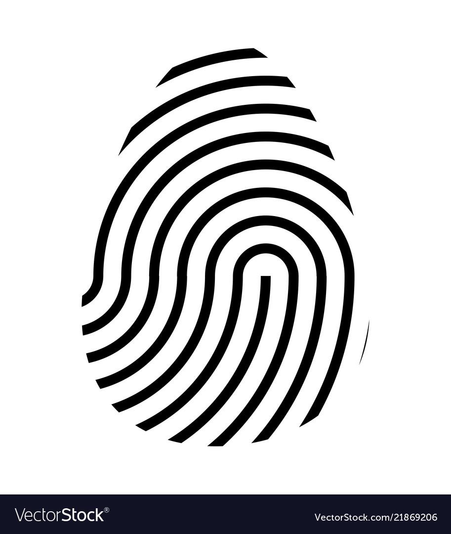 Fingerprint logo symbol icon design.