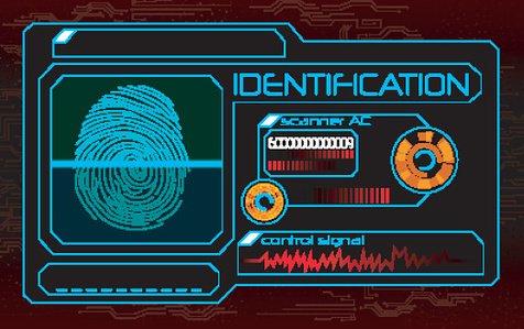Fingerprint scanner Clipart Image.