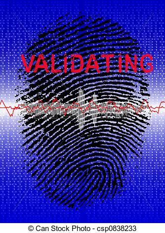Drawings of Fingerprint on a Biometric Scanner.