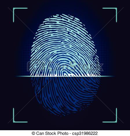 fingerprint scanner clipart clipground