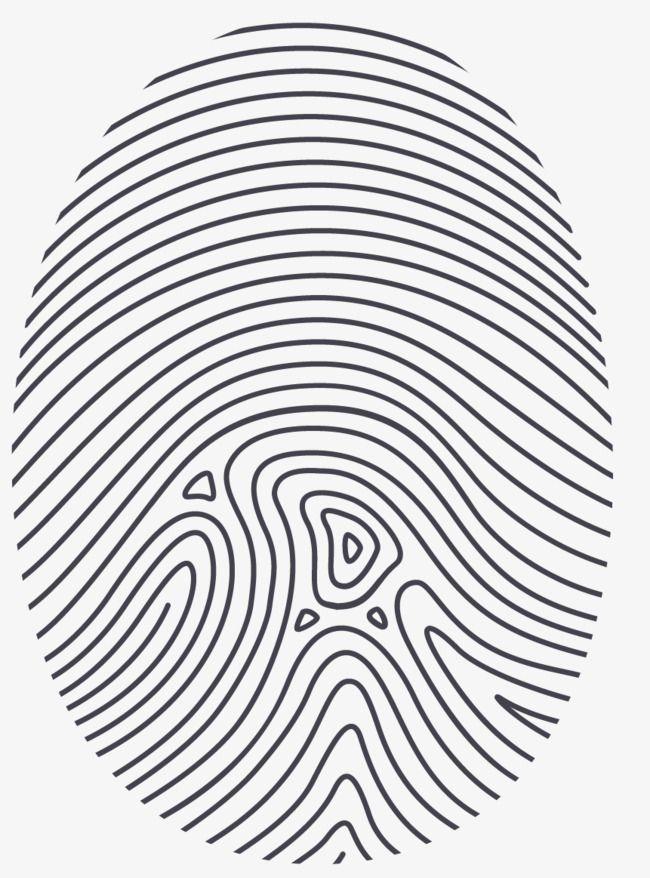 2019 Vector Painted Fingerprint, Vector, Hand Painted, Fingerprint.