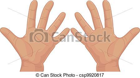Ten fingers clipart.