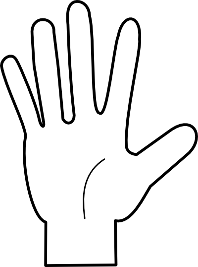 Counting Fingers Clipart.
