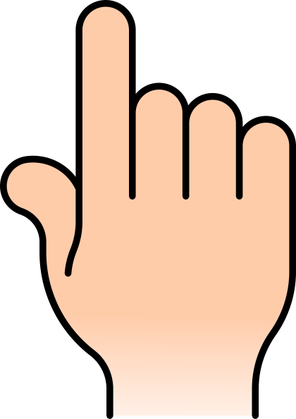 6 Fingers Clipart.