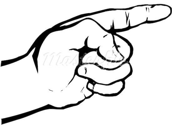 Finger Pointing Clip Art.