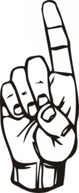 Pointing Finger Clipart.