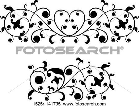 Stock Illustration of floral finial 1525r.