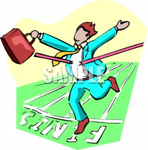 Crossing Finish Line Clipart.