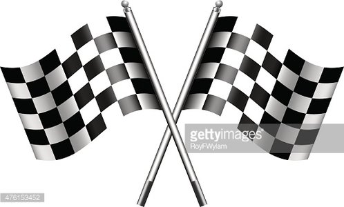 Checkered, Chequered Flags Finish Flag premium clipart.