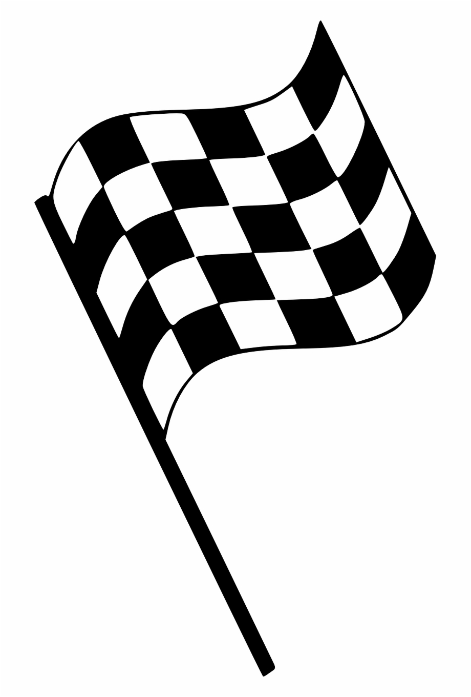 Checkered Flag Start Stop Race Png Image.