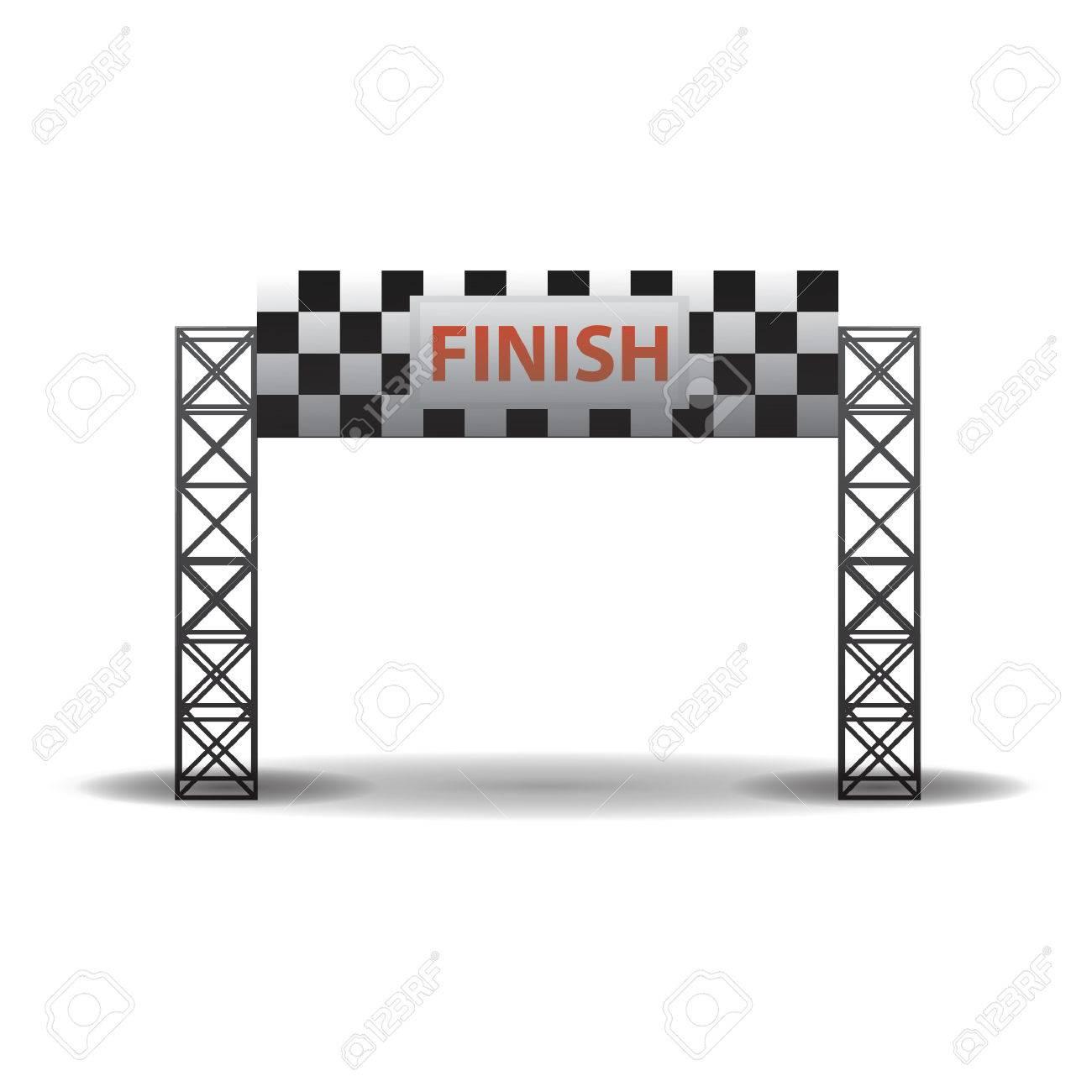 finish line banner.