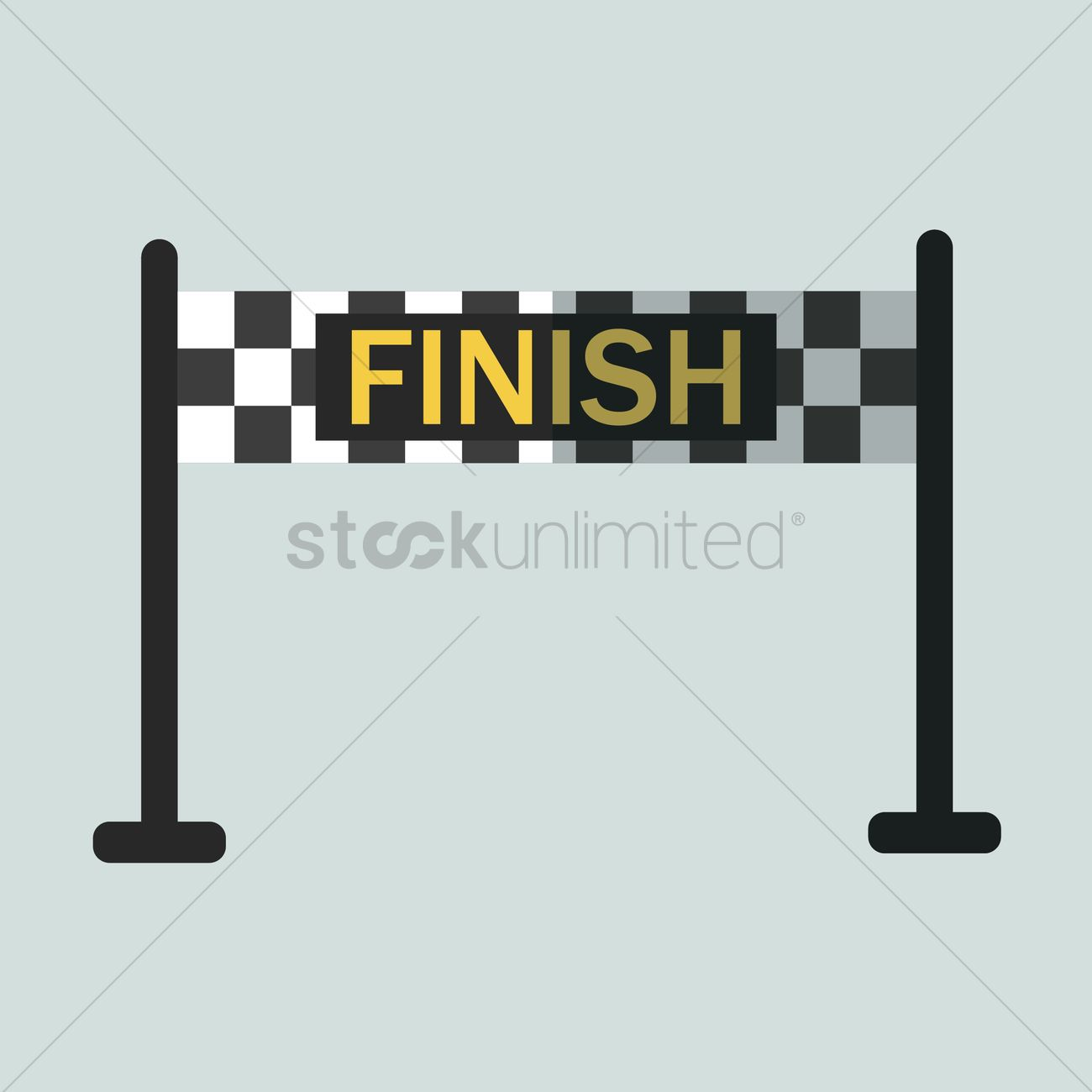 Finish line banner Vector Image.
