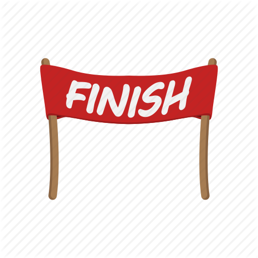 Finish Line Banner Png Vector, Clipart, PSD.