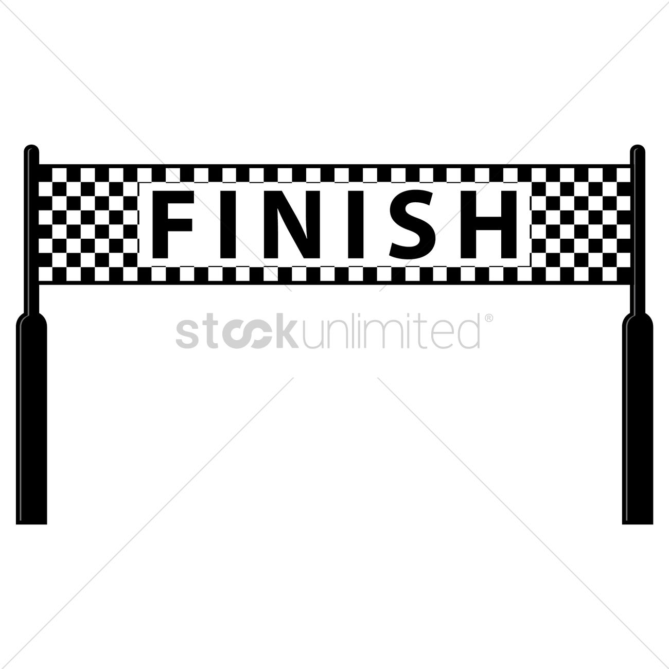 885 Finish Line free clipart.