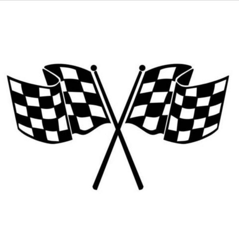 Checkered Race Flag Vinyl Decal Sticker.