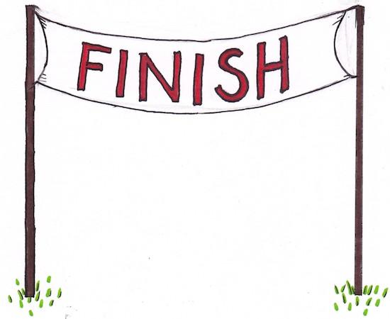 Finish Line Clipart.