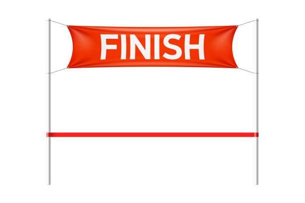 Best Finish Line Ribbon Illustrations, Royalty.