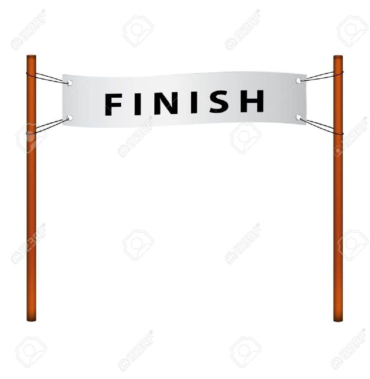 Finish line ribbon with finish.