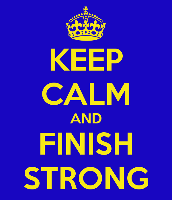Finish Strong Clipart.