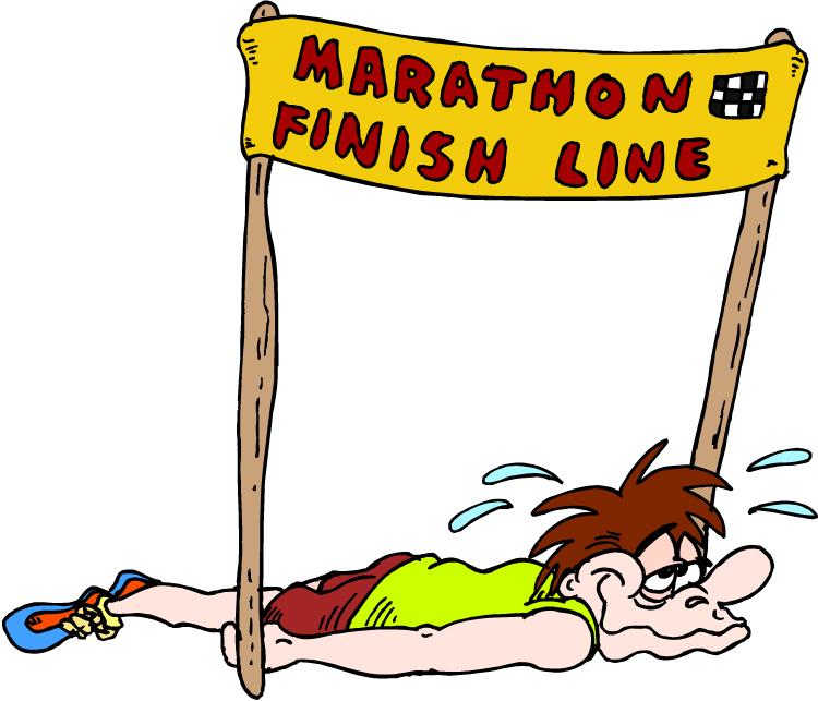 Marathon finish line clipart.