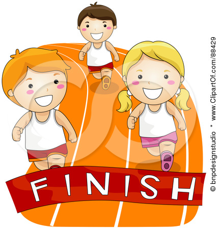 Finishing a race clipart.