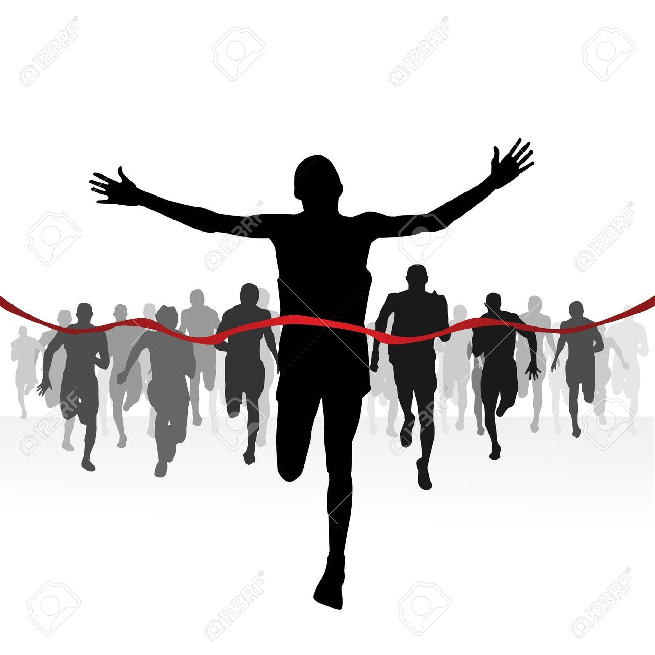 Running finish line clipart.