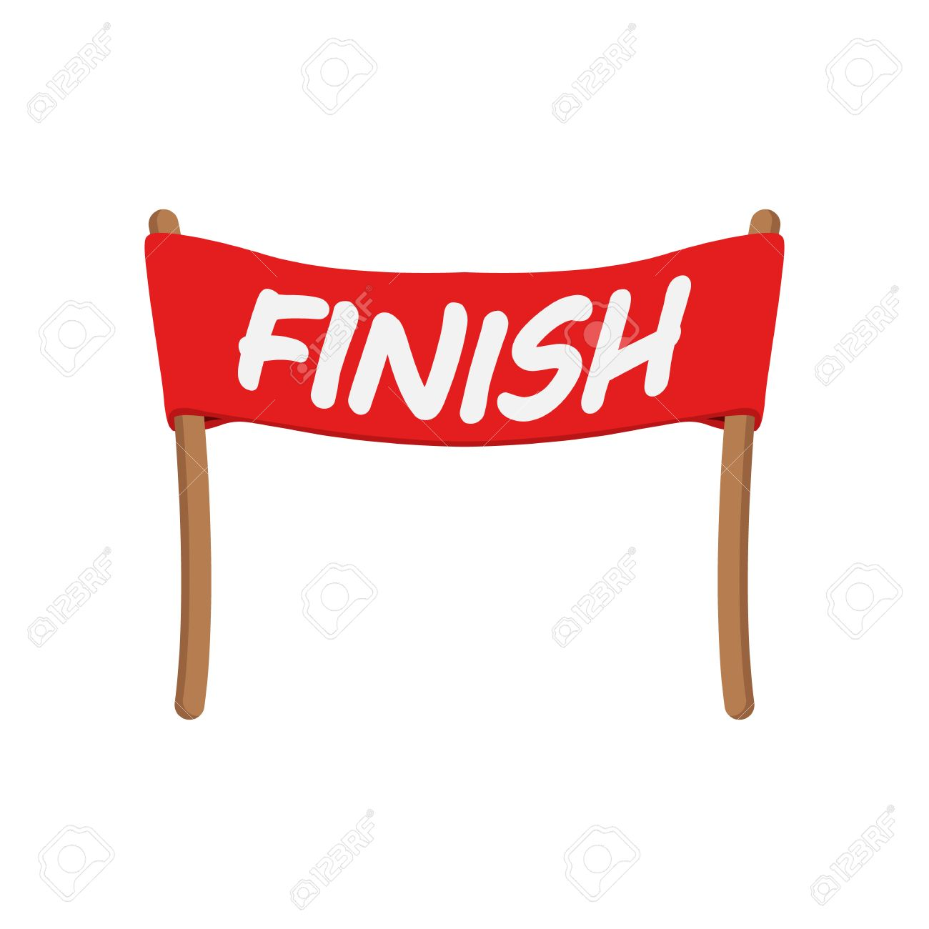 Red ribbon in finishing line » Clipart Station.