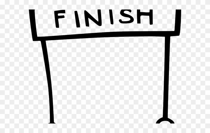 Finish Line Clipart Icon.
