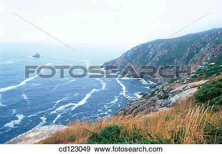 Stock Photograph of Cape Fisterra. Finisterre. La Coru±a province.