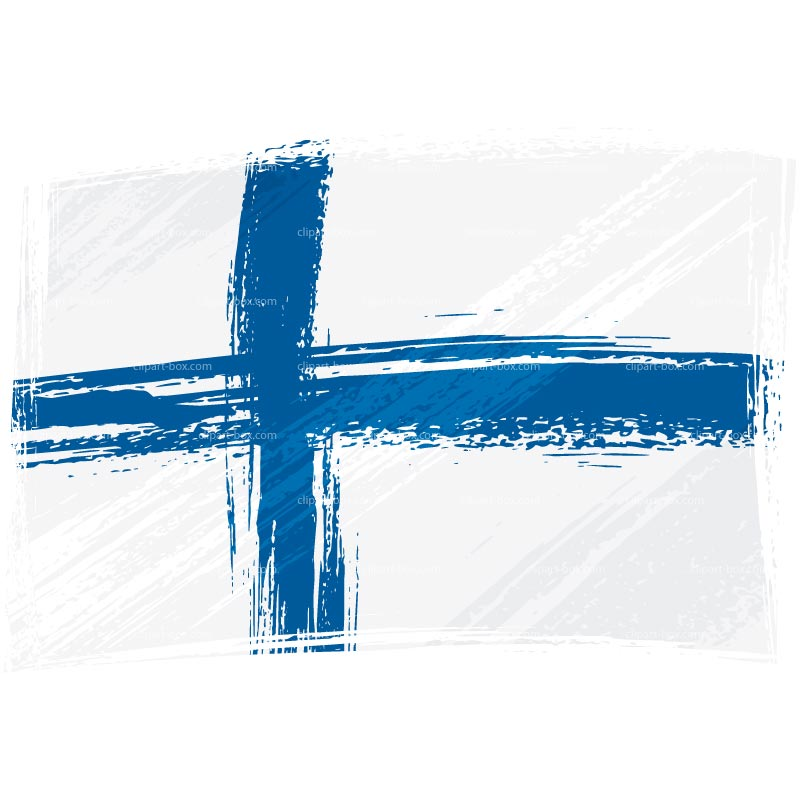 CLIPART FINLAND FLAG.
