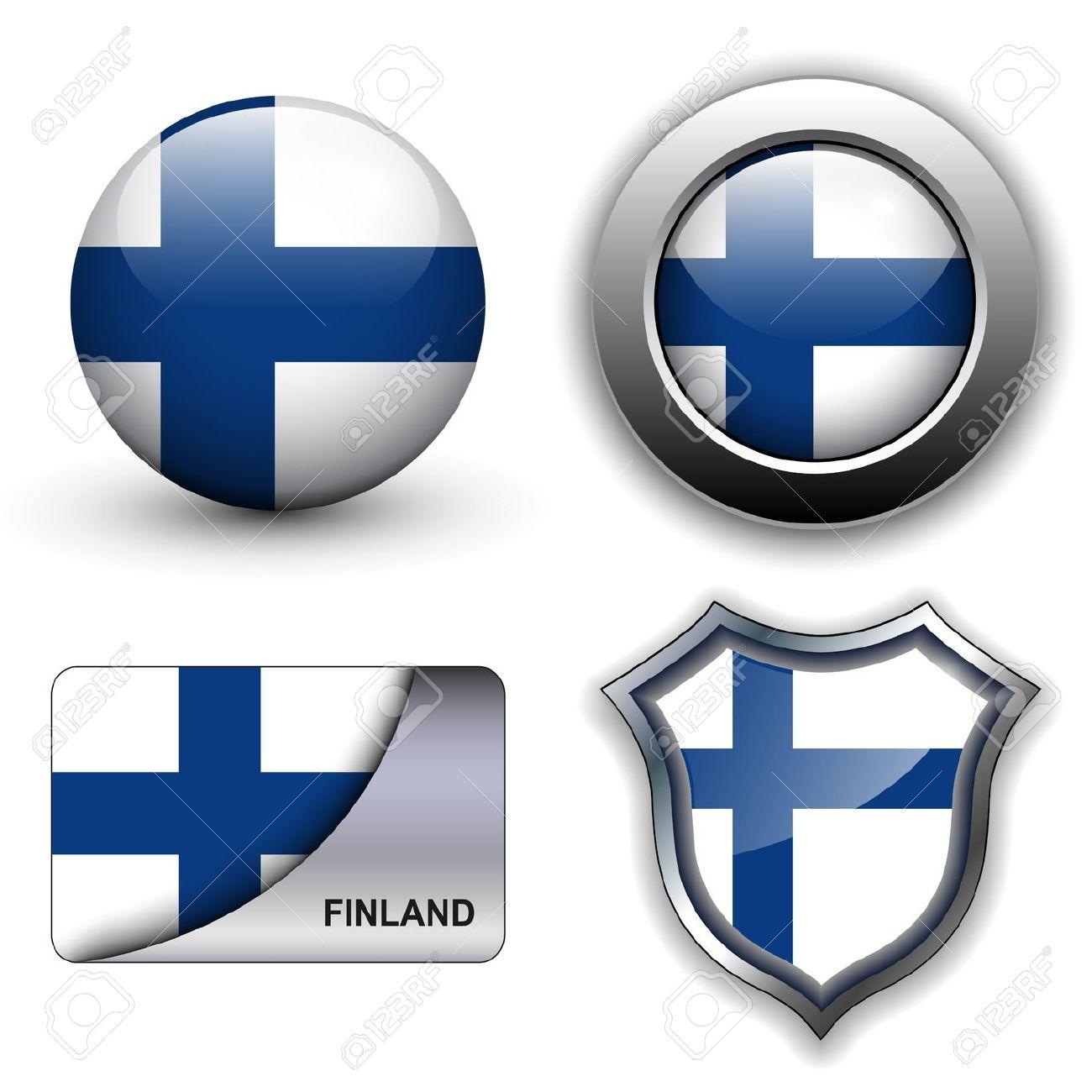 Free clipart finnish flag.