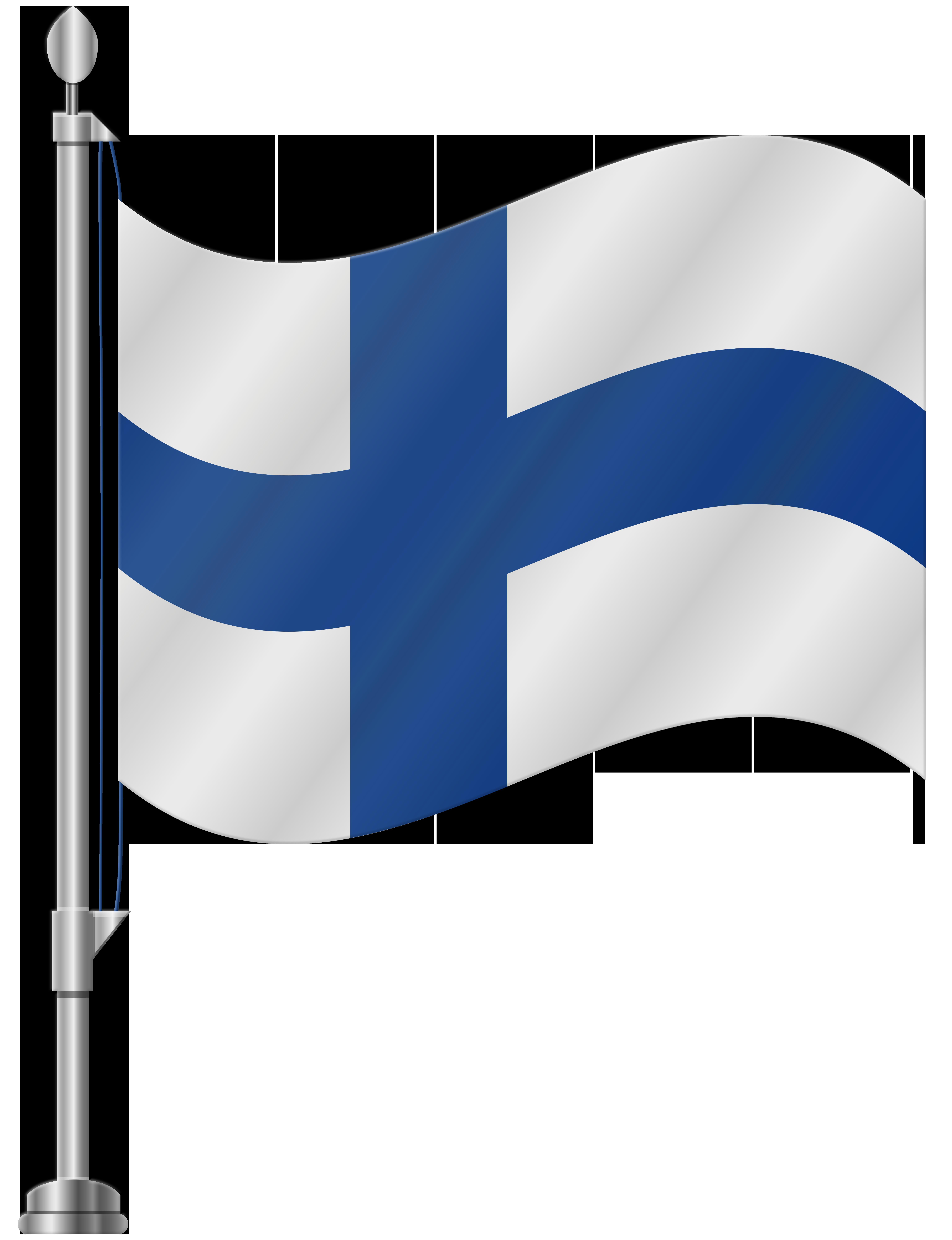 Finland Flag PNG Clip Art.