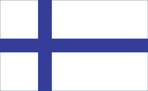 finland flag Clipart Image.