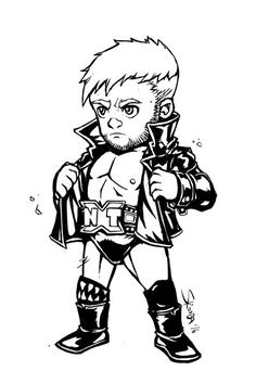 Wwe Finn Balor Coloring Pages.