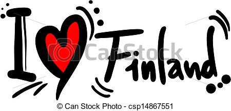 Clipart Vector of Finland love.