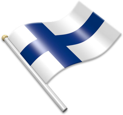 Finnish flag clipart.