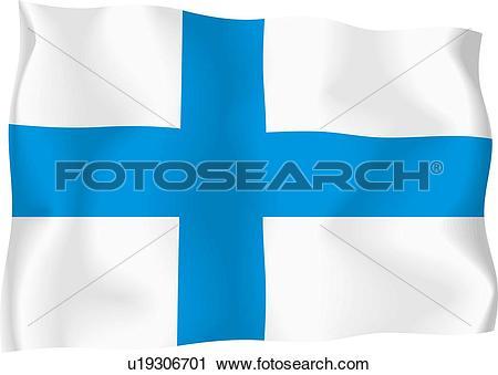 Clipart of Finnish flag u19306701.
