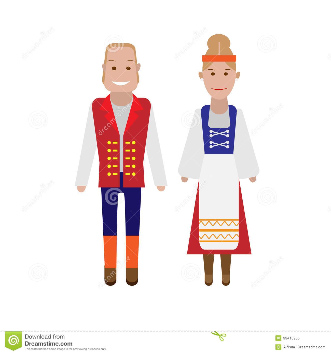 Finnish National Costume Royalty Free Stock Photo.