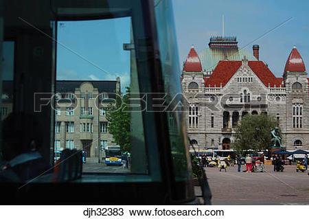Stock Photo of Finland, Helsinki, Helsingfors, Finnish National.
