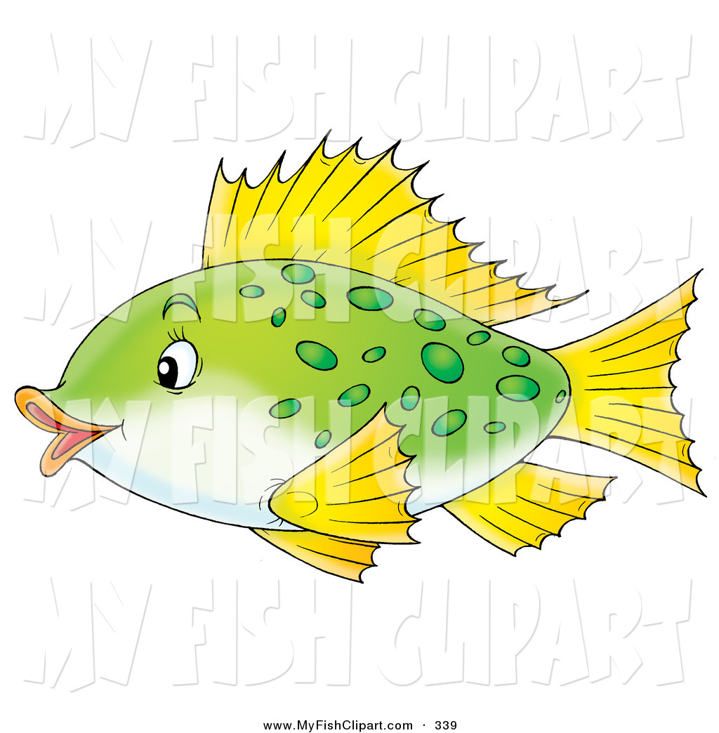 Swimming green fins clipart.