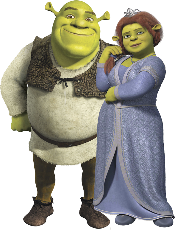 Shrek And Fiona PNG Image.