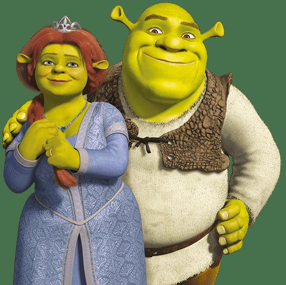 Shrek and Fiona transparent PNG.