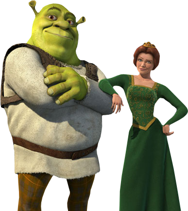 Download Free png Shrek and Fiona PNG, Download PNG image with.
