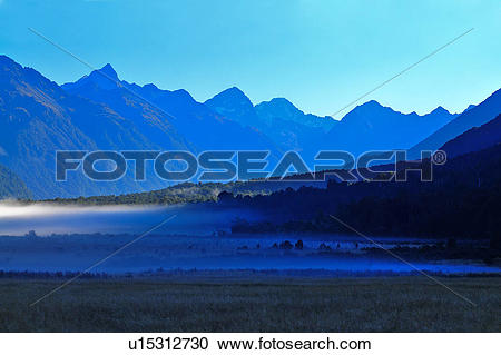 Stock Photography of Fiordland National Park, South Island New.