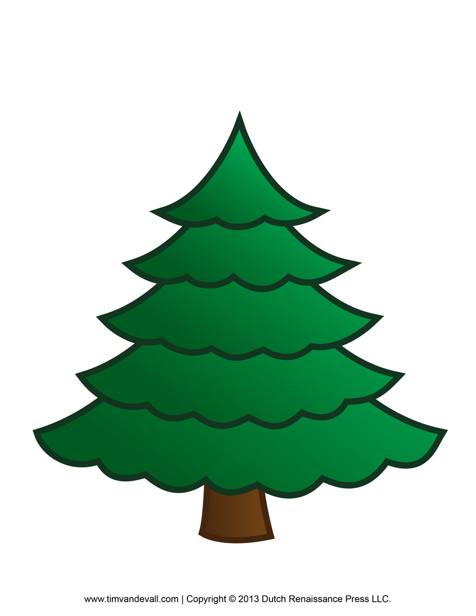 Fir tree clip art.